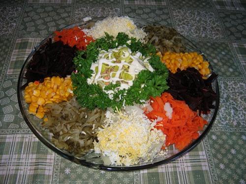 Салат «Радуга»