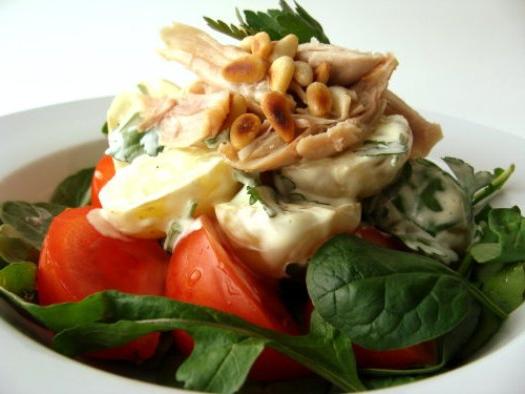 Салат из индейки с сыром