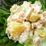 4245 Салат из курицы с ананасами, грибами и сыром
