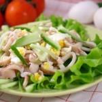 4275 Салат из кальмаров с огурцами