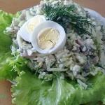 4300 Салат с сельдью и яйцом