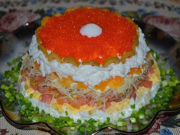 Слоеный салат Жемчужина