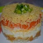 4421 Салат с яблоками, морковью, яйцами и сыром