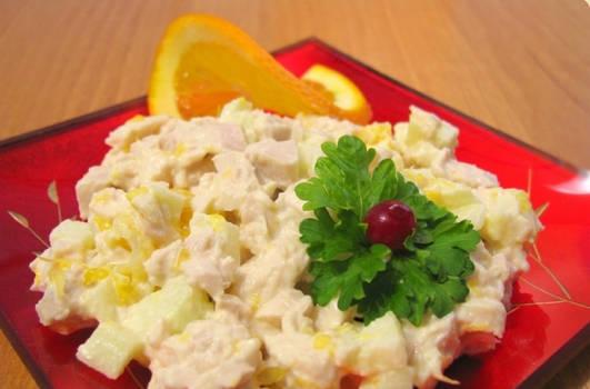 Фруктово-овощной салат с майонезом