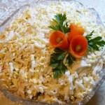 4476 Куриный слоеный салат со сладким перцем
