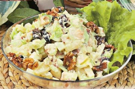 4479 Салат из болгарского перца с ветчиной и орехами