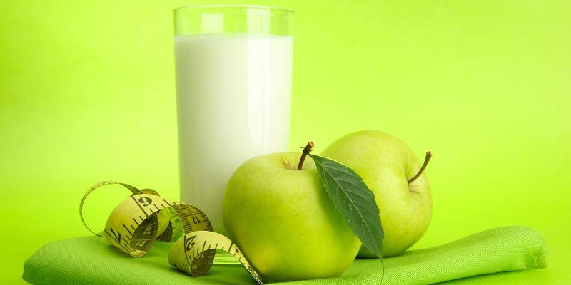 Кефирно — яблочная диета