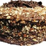 5050 Ореховый торт из песочного теста с шоколадно-сливочным кремом