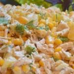 5094 Салат из курицы с ананасами и кукурузой