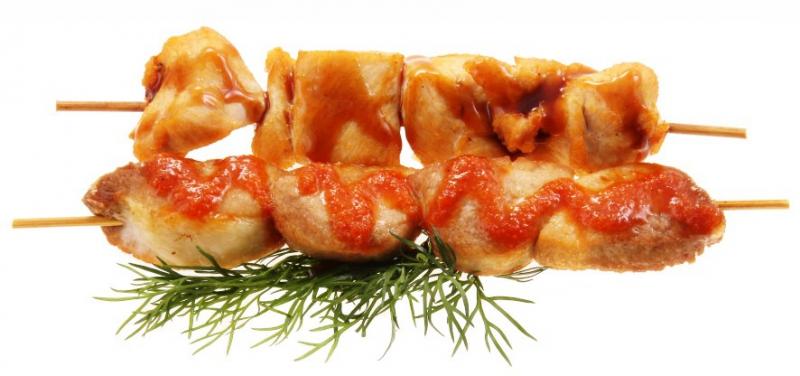 5129 Жареные куриные шашлыки в соусе якитори