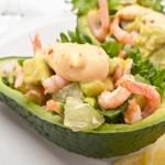 5293 Оливье с креветками, авокадо и домашним майонезом