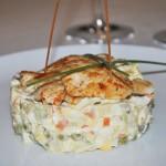 5296 Салат оливье с филе цыпленка на гриле