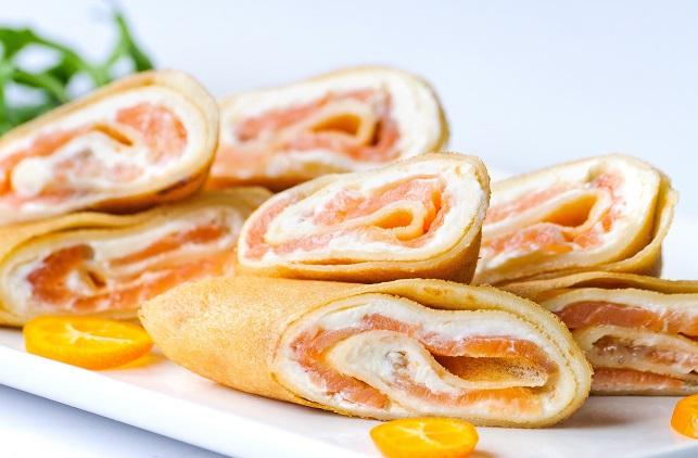 Блинчики с сырно-сливочной начинкой
