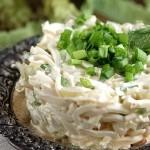 5506 Нежный салат из кальмаров с овощами