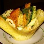 5585 Вкусный салат в сырных корзиночках