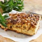 5786 Ореховый пирог с персиками