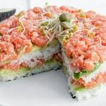 """5810 Салат с овощами и тунцом """"А-ля суши"""""""