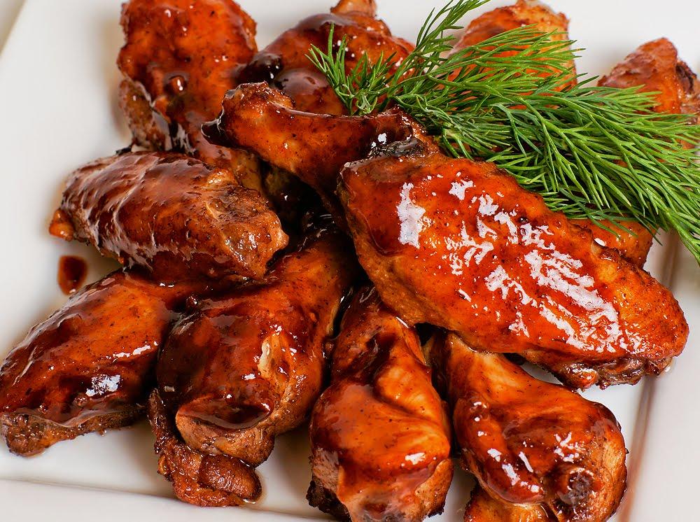 Куриные крылышки в кисло-сладком маринаде