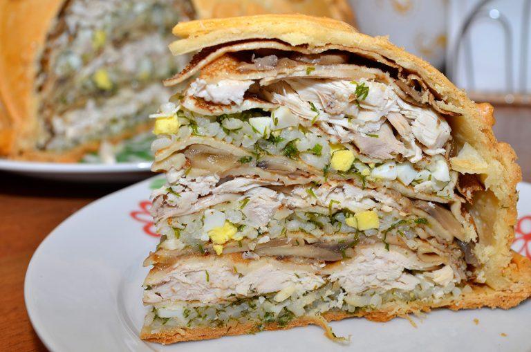 Курник с курицей рецепт с пошагово