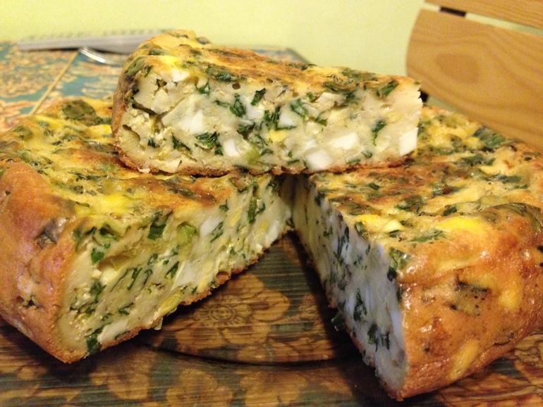 Пирог с начинкой из яиц по-вьетнамски