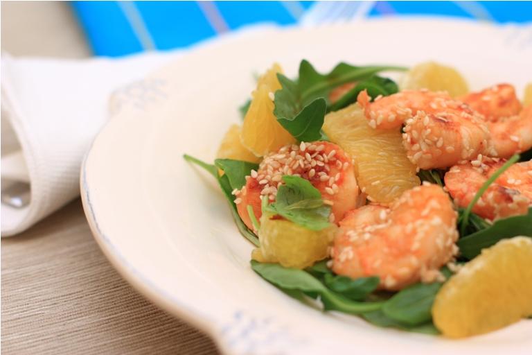 6298 Салат с креветками и апельсином