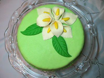 Цветочки-листочки из маршмеллоу