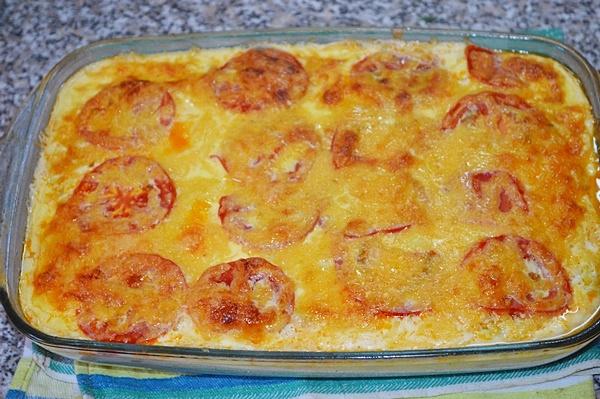 Запеканка с фаршем картошкой кабачком в духовке с фото