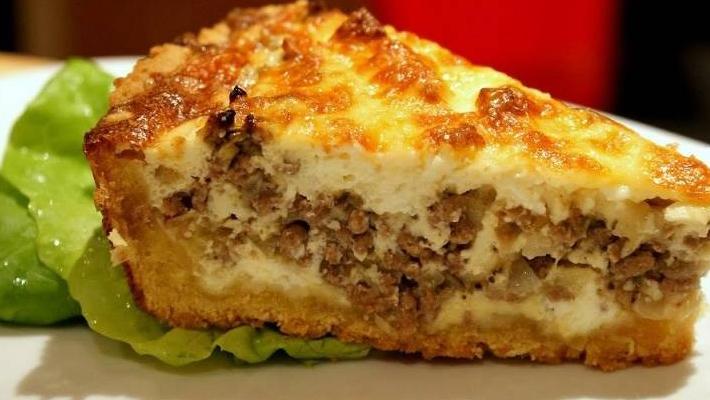 Капустно-рисовый пирог с тунцом