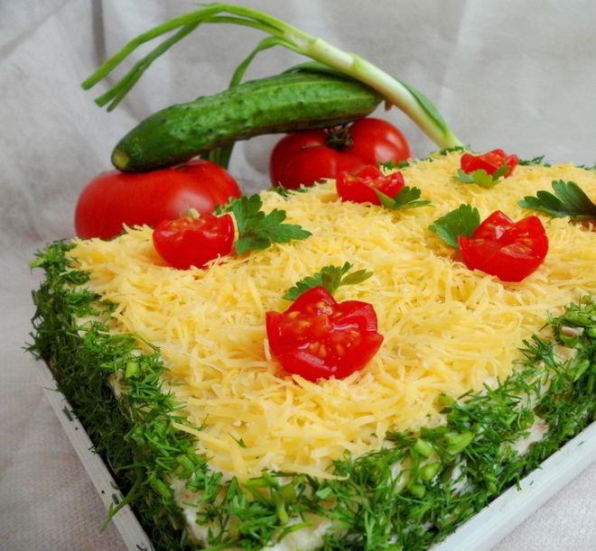 Сливочно-закусочный торт «Летний холодок»