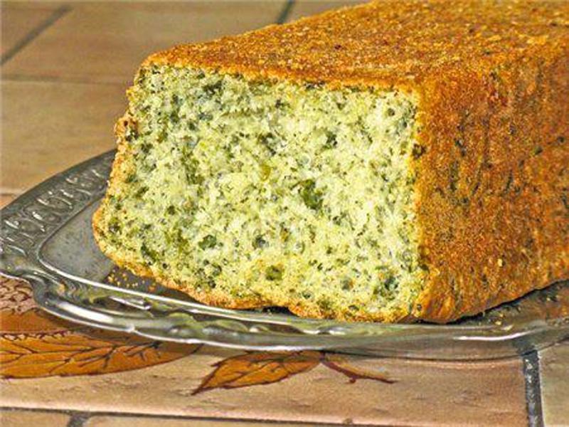 Хлеб со шпинатом и козьим сыром