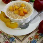 7075 Каша-десерт с карамелизированным персиком