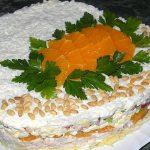 7205 Куриный торт с грибами и глазурью