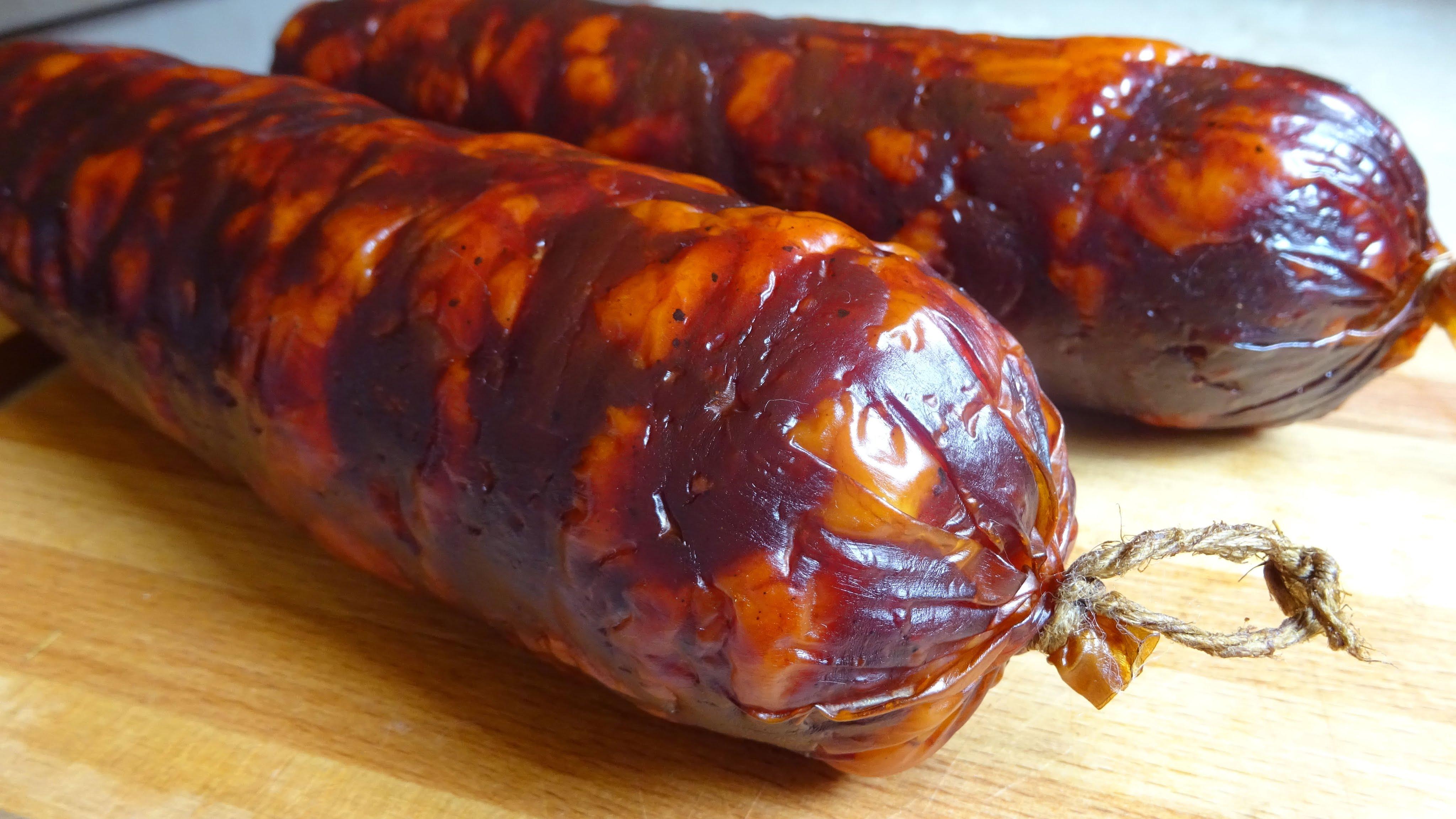 Сырокопченая колбаса в домашних условиях фото