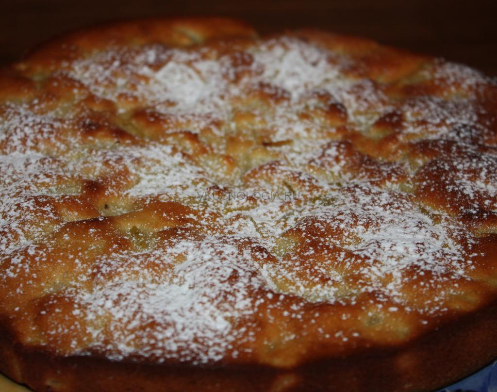 Медовый пирог с грушами