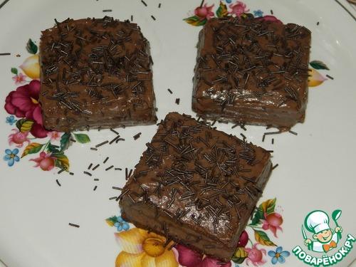 Рецепт Шоколадные печенья (пирожные) «Два в одном»