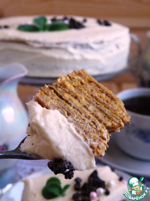 Рецепт Блинный торт « Зима, прощай!»