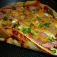 13956 Рецепт Быстрая пицца на сковороде