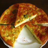 13962 Рецепт Нежный пирог с баклажанами и сыром