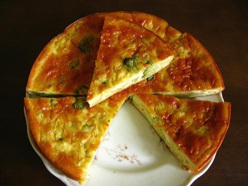 Рецепт Нежный пирог с баклажанами и сыром