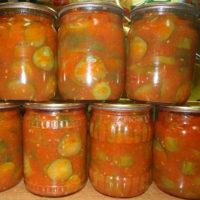13971 Рецепт Салат из огурцов в томате на зиму