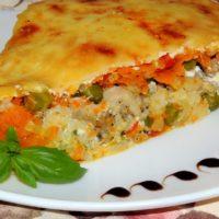 14045 Рецепт Запеканка гречневая с овощами
