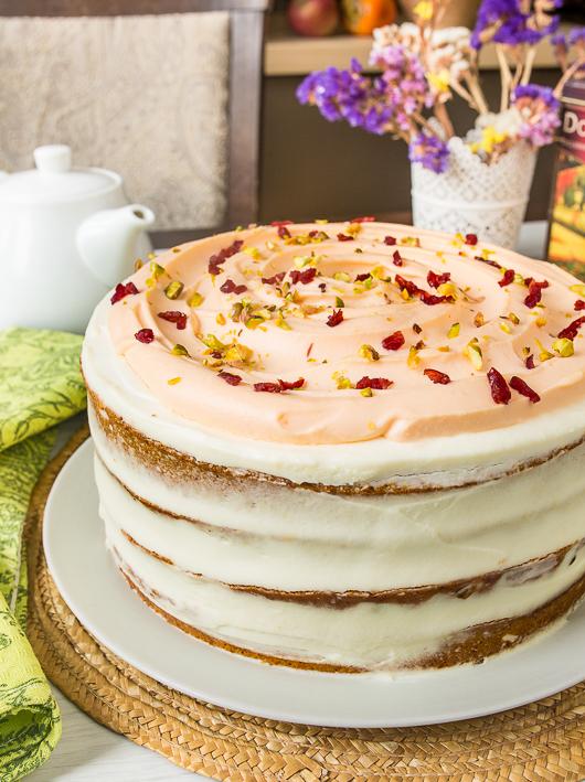 Рецепт Тыквенный пряный торт