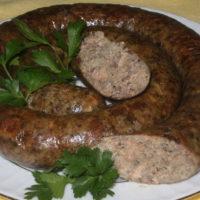 14747 Рецепт Печёночная колбаса с гречкой