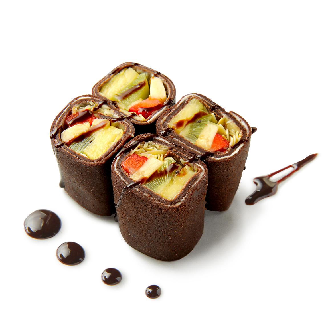 Рецепт Десертные роллы с фруктами