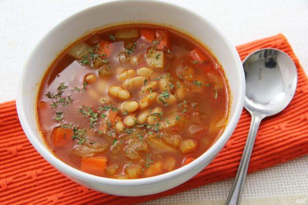 """Рецепт Овощной суп с фасолью """"Яркий"""""""