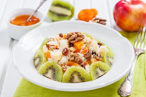 Рецепт Фруктовый салат «Под сугробом»
