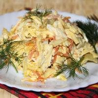 15085 Рецепт Куриный салат с морковью и чесноком