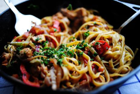 15116 Рецепт Острая лапша с мясом в азиатском стиле