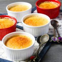 15121 Рецепт Порционный сливовый пирог-пудинг