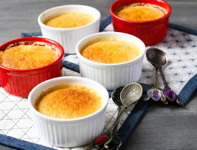 Рецепт Порционный сливовый пирог-пудинг